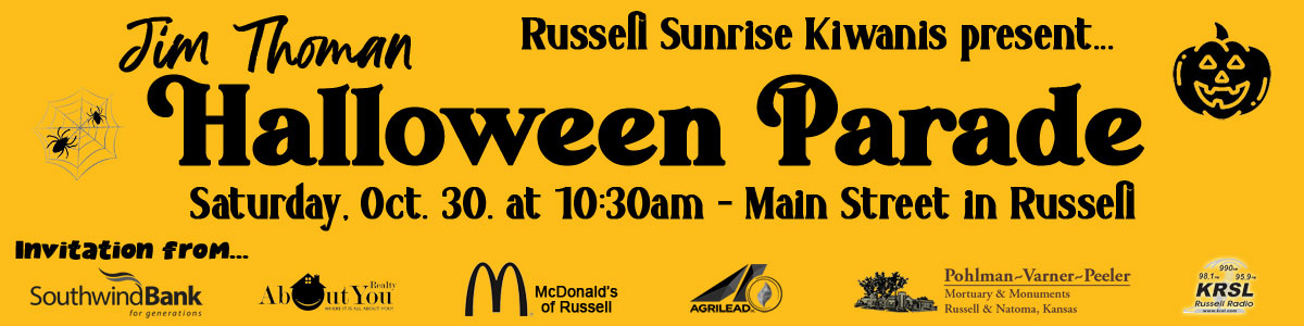 2021 Russell Halloween Parade Marquee