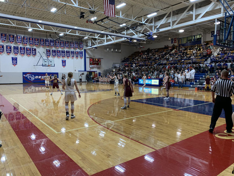 Girls game at 2019 Amos Morris Classic. (Photo courtesy usd407.org)