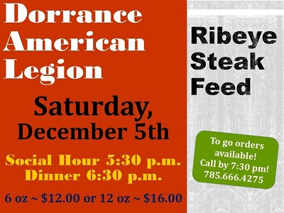 Dorrance Steak Feed Dec 2020