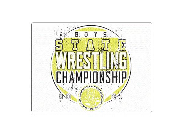 2020-21 KSHSAA State Wrestling Logo
