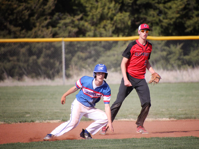 Russell/Victoria played their home opener against Ellsworth on Tuesday, April 6. (Photo courtesy Chris Roth)