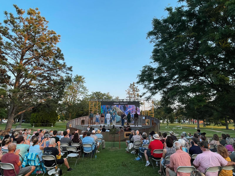 Our Trudy premiered Thursday, June 10 during Prairiesta in Russell. (Photo courtesy of Ad Astra Music Festival)