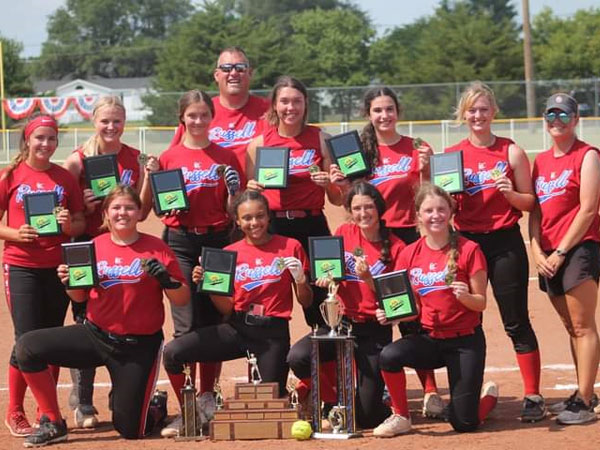 Russell captured the K-18 Fastpitch Softball State Championship on Saturday, July 17 in Lucas. (Photo courtesy Deanna Myers)