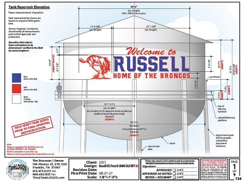 Russell's Proposed Water Tower Design